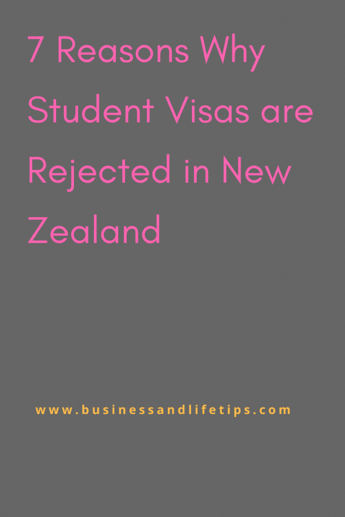 7 Reasons Why Student Visas are Rejected in New Zealand